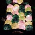 3 m 35 unids ALGODÓN BOLA Festival de la Linterna Romántica Mesa de Retroiluminación LED HADAS Luces de la Secuencia PARA LA FIESTA de NAVIDAD Decoraciones Para Árboles de navidad