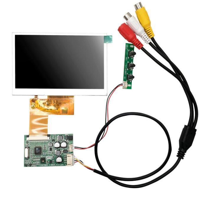 4.3 polegada display lcd rgb 480 (rgb) x272 com av driver placa módulo kit monitor para carro av digital photo frame multi-função