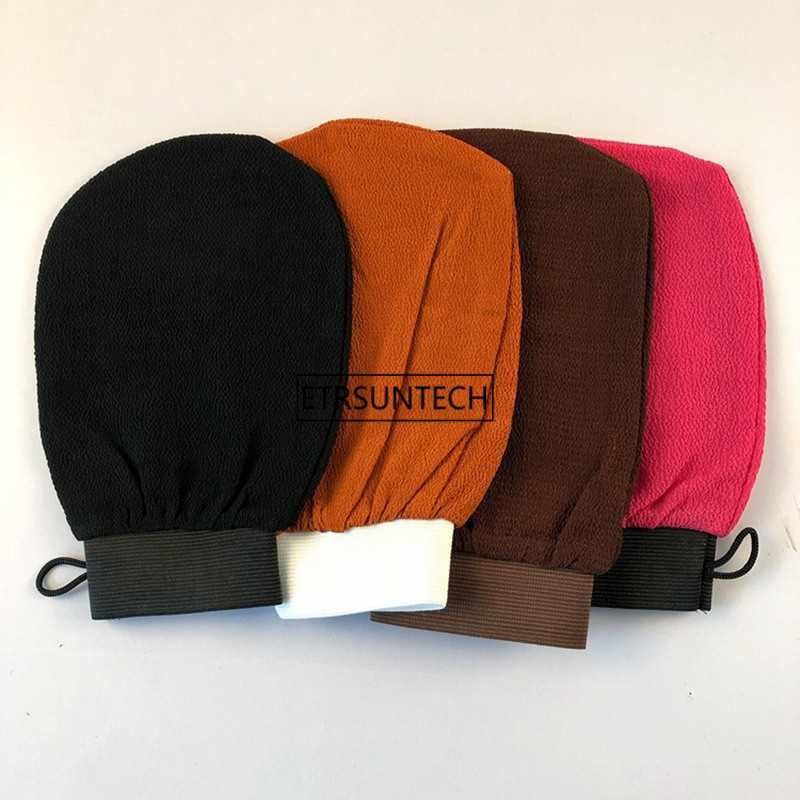 100pcs Moroccan Hammam Bath Scrub Glove Exfoliating Body Facial Tan Massage Glove Exfoliator Glove F2967