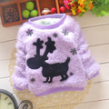 Autumn and winter new children deer sweater  Solid color girl sweater