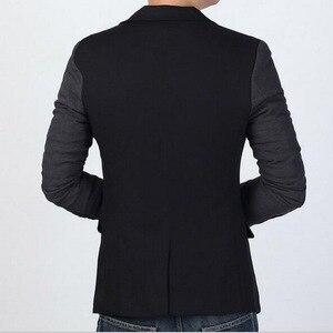 Image 4 - VXO męska Casual Slim Fit solidna żakiet z dzianiny dresowej męska suknia ślubna marynarka marki męska casualowa kurtka Slim Fit Asian rozmiar M 6XL