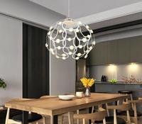 Led כדור נברשת מודרני פשוט creative אוכל שולחן מנורה-באורות תלויים מתוך פנסים ותאורה באתר