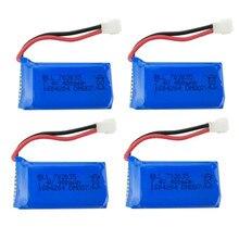 4 Pcs Mis À Jour 400 mAh 30C Lipo Batterie 7.4 V 2 S pour DM007 RC Quadcopter Partie