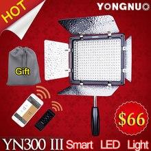 Bi-color de yongnuo yn-300 yn300 iii lil 3200 k-5500 k pro luz de vídeo led para sony canon nikon videocámara de la cámara