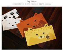 10pcs/lot Vintage Animal design DIY Multifunction Kraft paper Tag Letter envelopes(China)