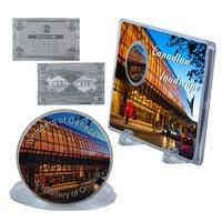 WR фестиваль сувенир подарки Книги по искусству галерея Онтарио сувенирная монета Творческий 999 Посеребренная чудеса Канада подарок для мон...