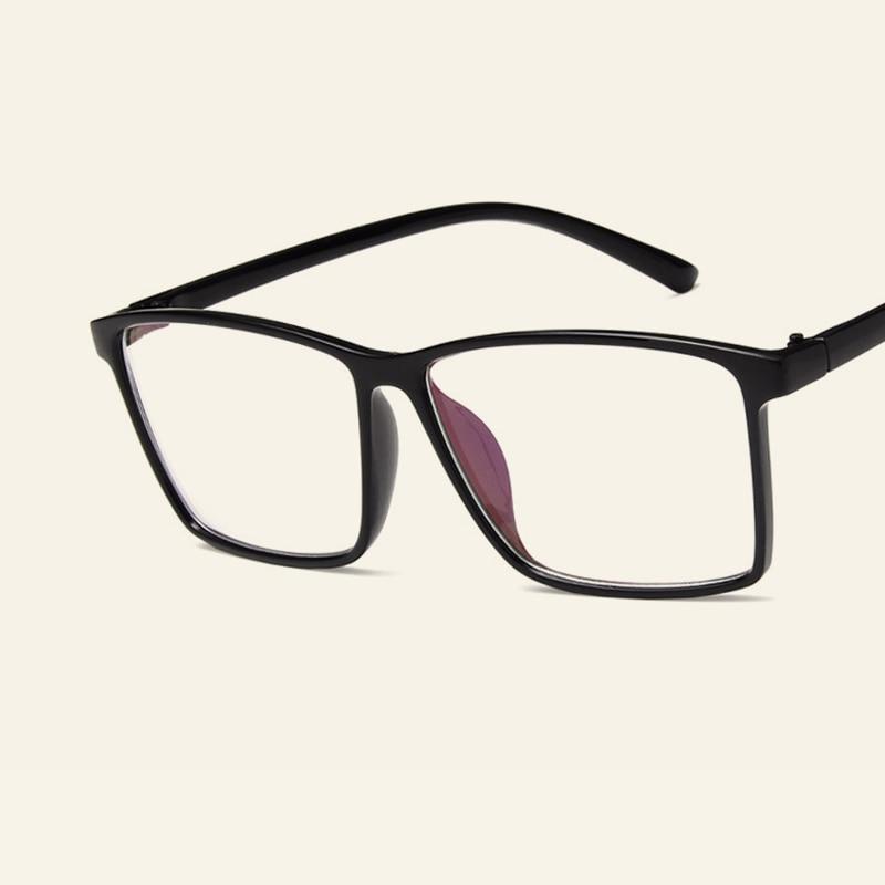 Einfache Quadrat Großen Rahmen Brillen Klare Linse Brille Männer ...