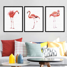 Modern Watercolor Cartoon Animal Pink Flamingo Wall Art Canvas Painting Nordic Pictures Kids Bedroom Home Decor Poster
