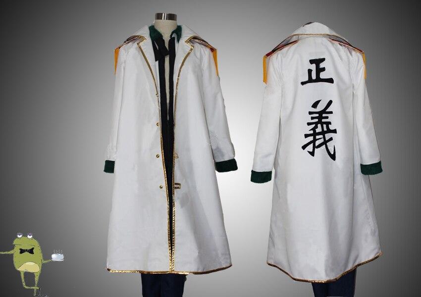 New!Anime One Piece Whiter Hunter Captain Smoker Jacket Cosplay Costume