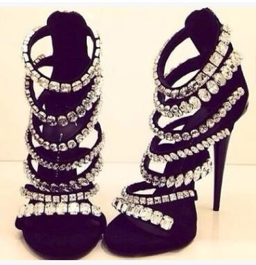 Hot Sexy Fashion Black Flock Thin Heel Shoes Crystal Cover Heel Womens Shoes Big Size Free Shipping Womens Sandals Hot Sexy Fashion Black Flock Thin Heel Shoes Crystal Cover Heel Womens Shoes Big Size Free Shipping Womens Sandals