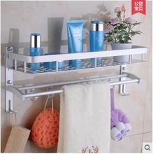 The bathroom shelf space aluminum towel rack double wash gargle hanging