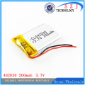 Polymer lithium battery 3.7 V 402030 042030 200mah can customized wholesale CE FCC ROHS MSDS quality certification Free shipping