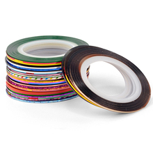 Mileegirl 30Colors/Lot Random Combine Striping Tape Line Nail Art Design 20Meters/Roll DIY Decoration for Nails Stickers