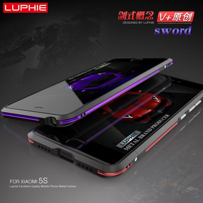imágenes para Luphie Xiaomi Mi5 Mi5S Mi 5 a prueba de Golpes Cubierta SPlus para xiaomi mi 5 mi 5S mi5S ADEMÁS de Marco de Aluminio de Lujo del Metal Del Teléfono Frontera caso
