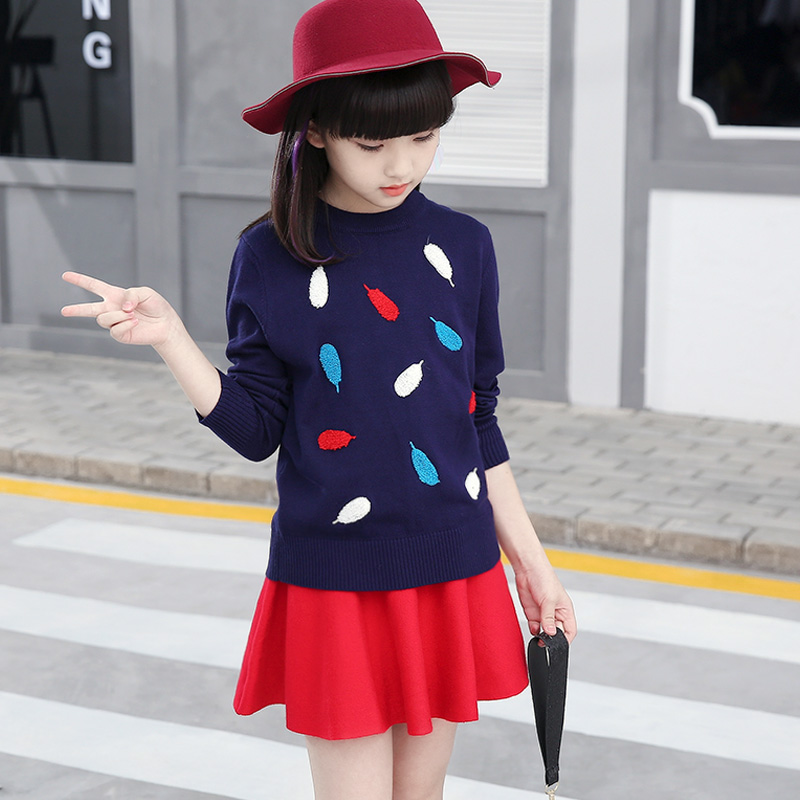 Back To School Outfits Teenage Girls Sweater 2018 Autumn Baby Girl Winter Clothes Long -7318