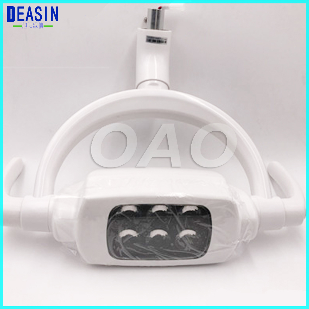 Good price shadowless operation dental 6 LED lamp oral light for dental unit with sensor manual switch dental led operation lamp oral light for dental unit with sensor manual switch