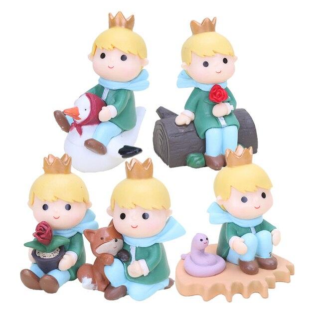 5 unids/lote 7-9 cm Le Pequeño Príncipe Rosa zorro figuras de acción juguetes para regalos de niños