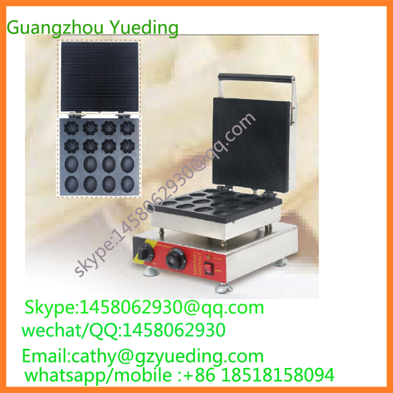 commercial waffle making machine electric nut and flower shape waffle maker for sale
