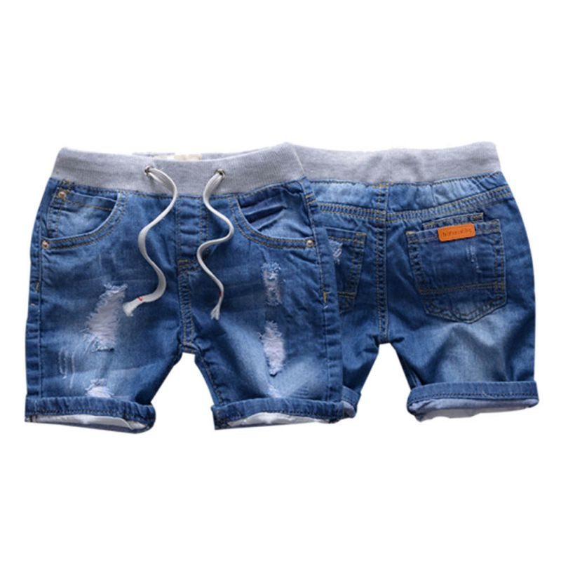 2018 Summer Ripped Jeans Shorts For Boy Denim Boy's Panties Jeans Shorts For Children 2-7 Years Girls Shorts New europe style floral embroidery denim shorts women ripped shorts 2017 summer new boyfriend blue hole plus size woman short jeans