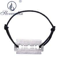 Slovecabin authentique 925 argent Sterling Lame De rasoir Lasoir chaîne De corde Bracelets pour Femme Vintage réglable Femme Bracelets