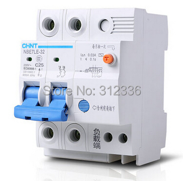 цена на Free Shipping earth leakage LE C25 2P 25A 2 pole Home use ELCB RCD residual current circuit-breaker earth leakage