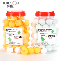 Huieson 60pcs Barrel Professional 1 Star Table Tennis Balls 40mm 2 5g Ping Pong Ball White