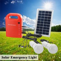 Mising 2 LED Lamp USB Cable Battery Charger Emergency Lighting System Portable Large Capacity Solar Power