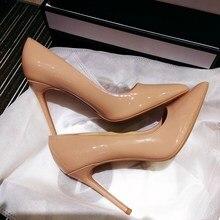 So Kate zapatos de tacón alto para mujer, calzado de punta puntiaguda, color negro, charol, Stiletto Pigalle, para novia