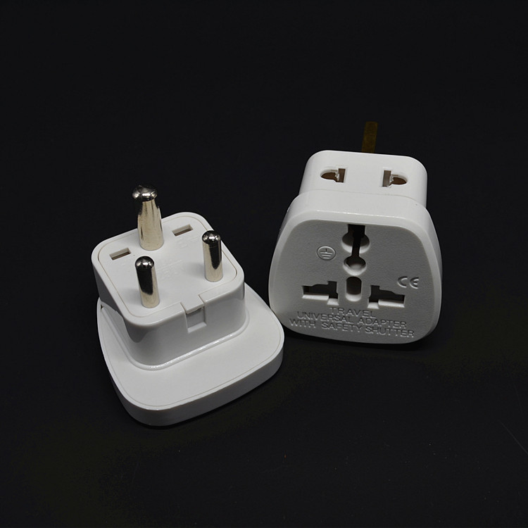 Free shipping INDIA, Sri Lanka Type D Travel Adapter With 2 Power Outlet Black Color 1 TO 2 TO UK US AU Wall Socket Power Plug the rough guide to sri lanka