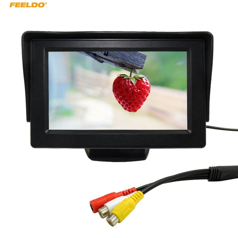 Feeldo 1 компл. 4.3 дюйма TFT ЖК-дисплей цифровой Мониторы для заднего Резервное копирование Камера DVD/VCR# am2799
