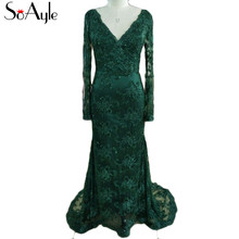 SoAyle Real Picture Evening Dresses Long Sleeves