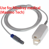 Use for Redel 6pin Mindray MP7000 patient SpO2 monitor,adult/Child/ finger clip animal ear/tongue blood oxygen sensor cable