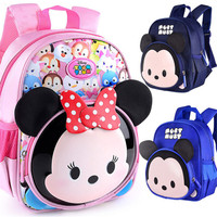 Designer kids baby bag kindergarten toddler school Backpack Children Minnie school bags For Girls boys Cartoon Schoolbag mochila