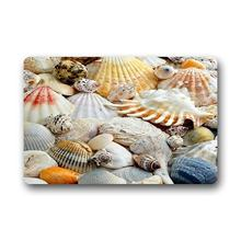 Memory Home Fashions Unique Com table Style Door Mat Decor Gorgeous Conch Shell Beach Doormat Floor Mat Bath Mat Indoor Mat(China)