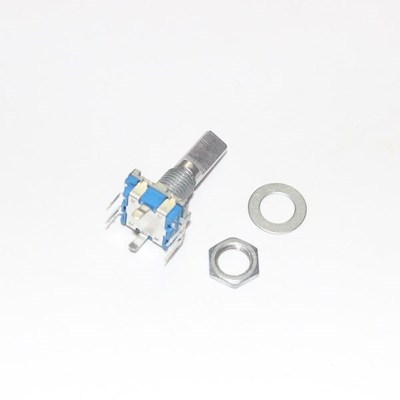 5pcs/lot Half Axis Rotary Encoder, Handle Length 15mm Code Switch/ EC11 / Digital Potentiometer With Switch 5Pin In Stock