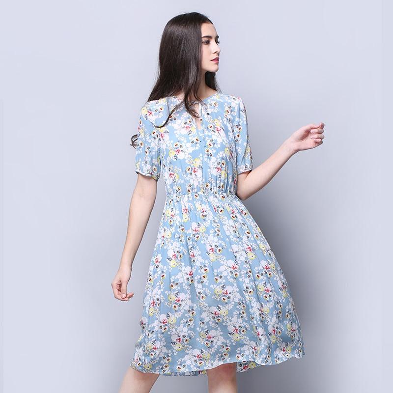 Kleid seide hellblau