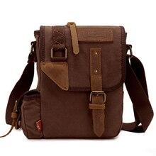 Men's High Quality Canvas Leisure Travel Bag Men Messenger Bags Vintage Men Crossbody Bag Stylish Shoulder School Pack for Boy