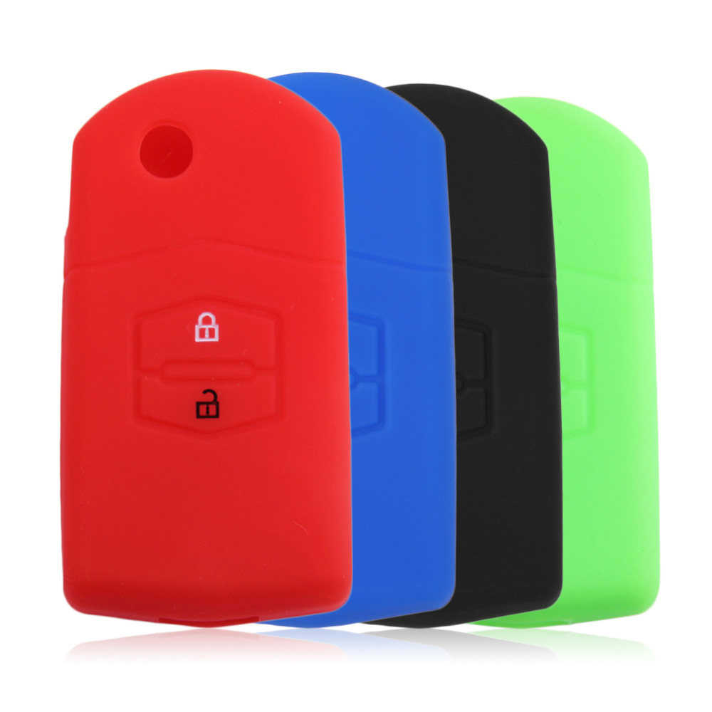 4 Colors Car Accessories Key bag Key Box Silicone Cover Portect Key Case 2 Keys for Mazda Hot Selling