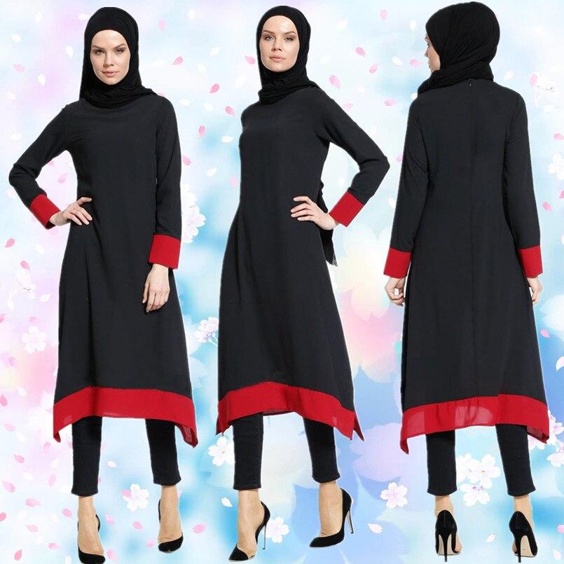 ee1ca63a27 Discount!! A116 Chiffon slim-cut 2017 New Style Muslim Lady dress ...