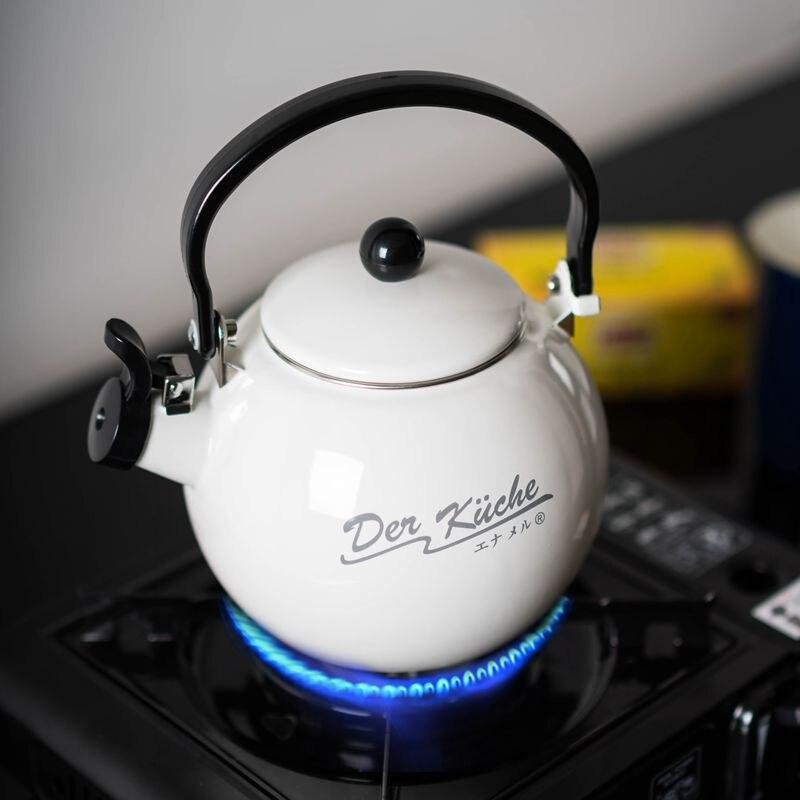 Haute qualité émail sifflement eau bouilloire bouteille d'eau sifflet gaz Induction cuisinière émail anneau bouteille thé bouilloire livraison gratuite