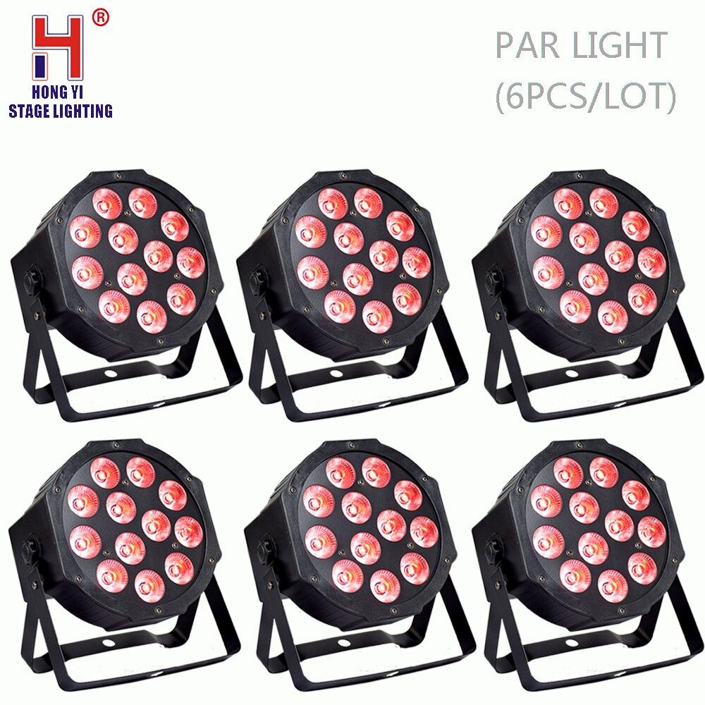 Par LED rgbw 4in1 par effet de stroboscope léger mélangeant la couleur 4/8 canaux dmx512 LED éclairage professionnel d'étape (6 pcs/lot)