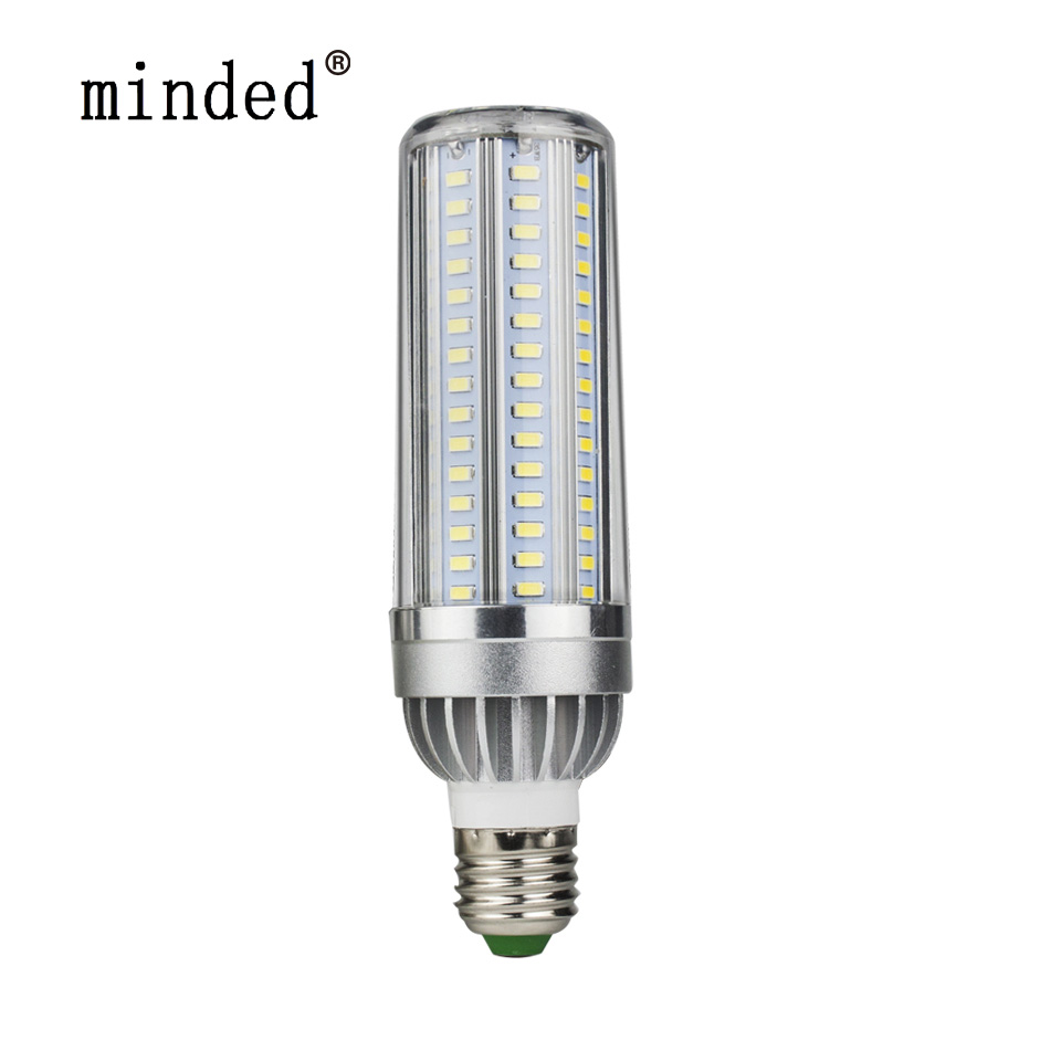 Warm/Cold White High Power Led Corn Bulb 5730 SMD Aluminum Fan 5W 35W 45W E27 Super Cooling No Flicker Lamp Light Power Saving