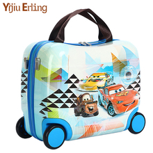 Multifunctional Cute Children Suitcase Portable Riding Box New Traveling Luggage Bags with Wheels Hard Case