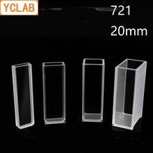 YCLAB мм 20 мм Cuvette 721 стеклянная ячейка колориметр лабораторное химическое оборудование