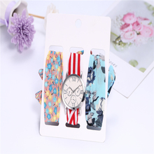 3pcs/set Casual Dresses Ladies Holiday Cotton Watch Watches Women Fashion Watch 2019 Wrist Watches for Women