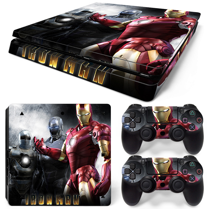 Free Drop Shipping Vinyl Controller Skin and 1-Piece Slim Console Sticker for Sony PS4 slim TN-P4Slim-20002
