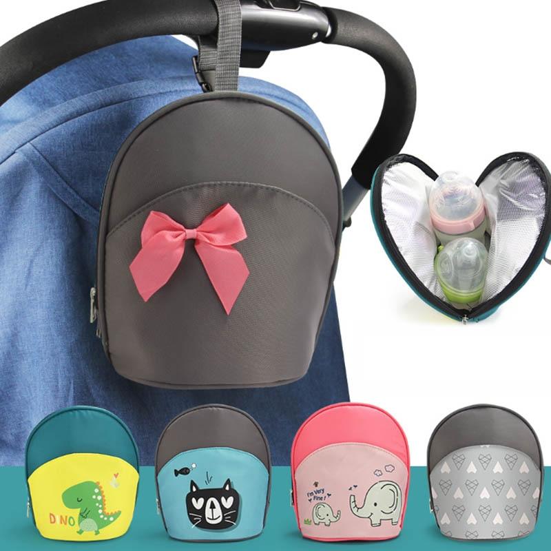 New Waterproof Baby Diaper Bag Insulated Breast Milk Cooler Bag Fashion Mommy Travel Bag Portable Bottle Stroller Hanging Bag