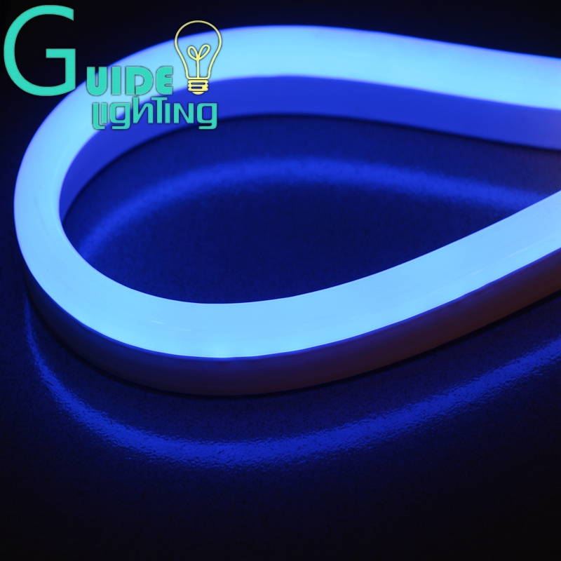 Low voltage led rope lights outdoor lighting enchanting shop free shipping blue color flexible led neon light 10meters lot dc24v aloadofball