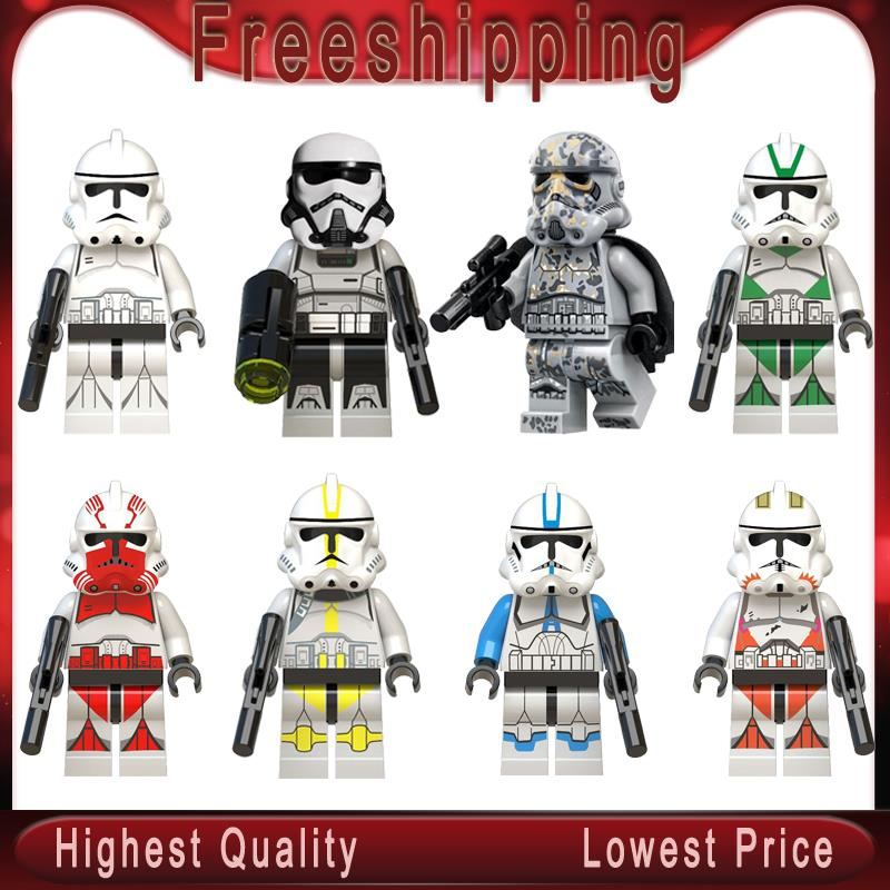 Imperial Redcoat Army Space Wars Soldier Clone Building Blocks Diy Model Bircks Fiugre Children Toys Gifts  WM6036