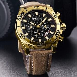 Image 3 - MEGIR 남자 시계 패션 스포츠 아날로그 쿼츠 시계 남자 브랜드 럭셔리 방수 시계 시간 Relogio Masculino Relojes 2020